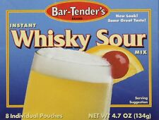 Bar-Tenders Instant Whiskey Sour Cocktail Mix Net Wt. 4.7 oz. 8 pouches