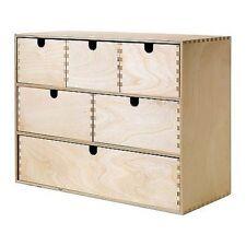 Craft EFFETTO LEGNO petto di 6 cassetti Storage Plain legno per una facile VERNICE DECORARE