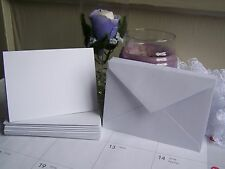 """Blank white A7 cards with envelopes set of ten 5""""x 7"""" invitations"""