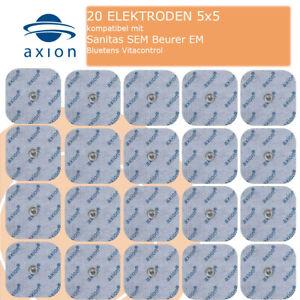 20 TENS Elektroden Sanitas SEM40 42 43 44 Beurer kompatibel Nachkaufset v. axion