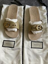Gucci Shiner Lifford Slide Clog sz 37