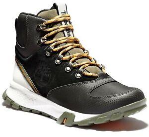Timberland Garrison Trail Mid High Waterproof Mens Hiking Boots Black Sneaker