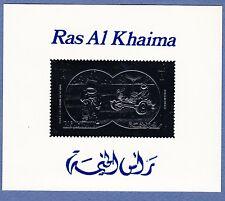 K99-Timbre/Stamp SILVER/ARGENT Neuf**MNH RAS AL KHAIMA /bloc/ Apollo 15