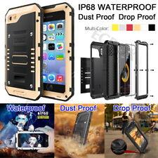 IP68 Waterproof Shockproof Rugged Metal Case Cover + Screen Protector For iPhone