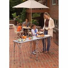 Coleman Pack-Away Camping Outdoor Picnic Portable Backyard 4-In-1 Table NEW