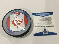 PK P.K Subban Signed Autographed Team Canada Hockey Puck Beckett BAS COA a
