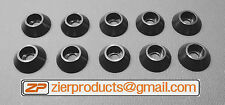 M6 *BLACK Anodized* Aluminum Finishing Washer Qty 10 FLAT BOTTOM SCHS CNC Billet