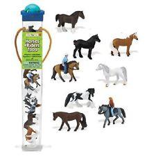 Safari Ltd 679704 Pferde & ihre Reiter (8 Minifiguren) Serie Themengebiet