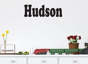 Personalised wall decal large sticker boys name