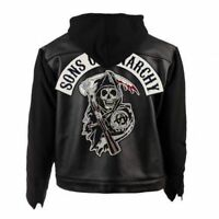 SOA Sons of Anarchy Leather Hooded Jacket