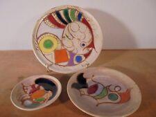 Céramique Vintage 60 Trio Assiette & coupelles MC TREINEN VALLAURIS CERENNE 1B