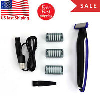Men Rechargeable Trims Edges Razor Shaver Edger Hair Trimmer Smooth Touch US