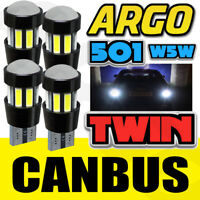 4x 501 Projector Led Cree Smd Canbus Super Bright White Reflection T10 W5w Bulbs