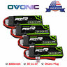 4X Ovonic 3000mAh 11.1V 50C 3S Lipo Battery With T Plug for RC Car helicopter