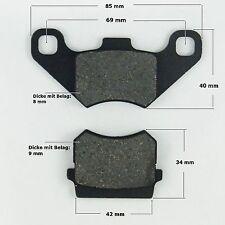 Bremsbeläge Satz ( 2 Stück) hinten Quad ATV 110/200 ccm neu (Lagerort:m13a)
