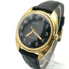 Vintage VOSTOK Classic Formal Gold Plated AU Men's Wristwatch USSR Export 18k SU