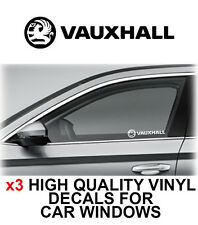 3 x VAUXHALL Logo Window Sticker Decal Graphics OPEL