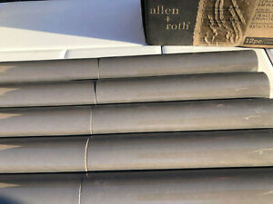 12 pcs. Allen + Roth Charcoal Ceramic Half Round Accent Tiles  Brand New 0857827