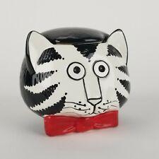 Vintage B Kliban Cat Jar Sugar Bowl Trinket Box Red Tie Figurine 70s 80s Treat