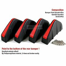 Rear Bumper Diffuser Molding Point Garnish Trim Cover Black Red For NISSAN