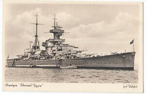 """Kriegsmarine Kreuzer """" ADMIRA HIPPER """" auf See ca. 1938"""