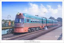 "Electroliner Railroad Art Print - 16"" x 24"""