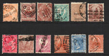 New South Wales 12 Early Stamps Used (few faults)
