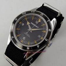 41mm DEBERT Black dial 5ATM ceramic bezel MIYOTA 821A Automatic men's watch