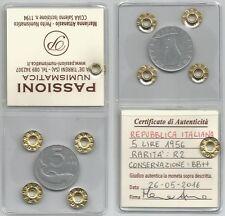 ITALIA REPUBBLICA - 5 Lire 1956  BB++  periziata