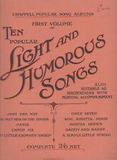 Vintage Sheet Music - Ten popular Light and Humorous Songs - 1st Volume