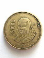 $1000 Pesos 1989 Juana de Asbaje Eagle Snake Estados Unidos Mexicanos Coin