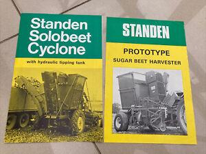 The Standen Beet Harvester Prototype & Solo beet Cyclone Brochures