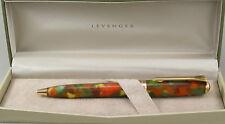 Levenger True Writer Foliage & Gold Ballpoint Pen - New In Box
