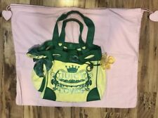 Juicy Couture Daydreamer Handbag Yellow and Green Velour & Leather Purse