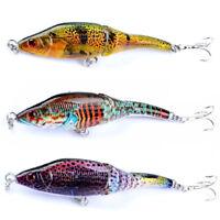 Eg _ Hk- Dipinta 3 Sezioni Vib 3D Occhi Bionico Pesca Rigido Esca Esca con Ami
