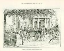 1889 Antique Print Arrival of German Emperor at Osborne House Isle Wight (382)