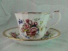 Royal Sutherland china cup & saucer made in Englandwhite floral design gold trim