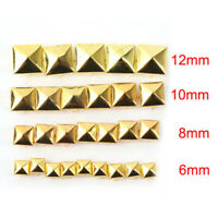 100X Square Pyramid Rivet Stud Spots Spikes Clothes Shoes Bags Decor Crafts DIY