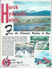 Equipment Brochure - Harsh Hydraulic Hoist - Dump Trucks Trailers c1957 (E2779)