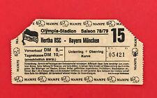 Fußball Eintrittskarte Hertha BSC Berlin - Bayern München 1978/79  ( 60098