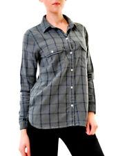 Sundry Women's Flannel Basic Plaid Shirt Dark Green Size US 1 RRP £149 BCF611