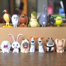 14pcs/Set Cute The Secret Life of Pets Movie Cake Topper Figures Toys Gifts Kids