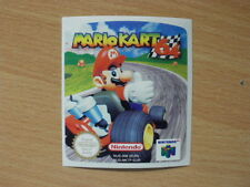 Mario Kart 64 N64 Cartridge Replacement Game Label Sticker Precut