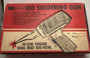 Vintage Craftsman Soldering Gun 6310 In Box With Manual