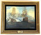 Battle of Trafalgar,1805, of Ants! by JOSEPH REED 1975 Original Painting Framed