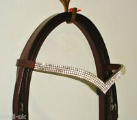 New Designer Ve 4 rows Clear Crystal Browband Great Gift Idea on *offer* Brown