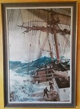 Montague Dawson the rising wind. Heavy brush stroke print on canvas. 24x36