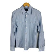Marcs Mens Button Up Shirt Size Small Blue Long Sleeve Good Condition