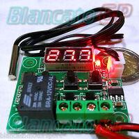 TERMOSTATO PROGRAMMABILE TERMOMETRO LED 110°C 12V riscaldamento raffreddamento