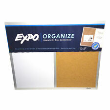 EXPO Organize 11 x 14 Magnetic Dry Erase / Cork Combination Board Aluminum Frame